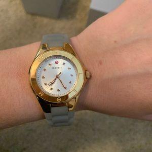 Michele Grey & Gold Watch